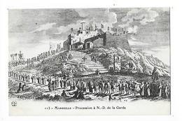 MARSEILLE  (cpa 13)    Procession à N.D. De La Garde -   - L 1 - Notre-Dame De La Garde, Ascenseur