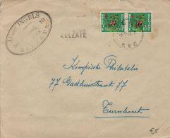 XFE-1041  ZELZATE      Stationsnaamstempel  Verzonden Via  GENT  1951  Op De Rugzijde Sluitzegels Sanatorium - Poststempel