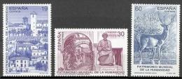 ESPAÑA 1996 - PATRIMONIO DE LA HUMANIDAD - Edifil Nº 3453-3455 - Yvert 3033-3035 - Wild