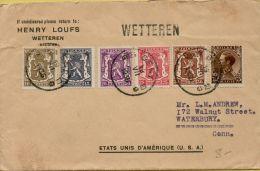 BRFE-7866   WETTEREN          Stationsnaamstempel     Verzonden Via  GENT   1936