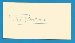 (A278) Signature / Dédicace / Autographe Original De Frida Boccara - Interprète - Chanteuse (Eurovision 1969) - Autographes