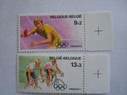 België Belgique Belgium 1988 JO Seoul Tafeltennis Wielrennen Tennis De Table Cyclisme 2285-2286 MNH **