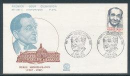 1983 Env 1er Jour N°1357A Pierre Mendès France - Louviers - 1980-1989