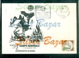 CASTRONOVO -SCOUT - CAMPO REGIONALE - MARCOFILIA - ANNULLI A TARGHETTA - Movimiento Scout