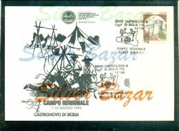 CASTRONOVO -SCOUT - CAMPO REGIONALE - MARCOFILIA - ANNULLI  SPECIALI - Movimiento Scout