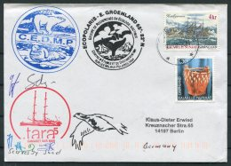 2004 Greenland Scoresbysund Ecopolaris C.E.D.M.P. Polar Bear, Walrus GREA  Arctic Expedition Signed Ship Cover - Greenland