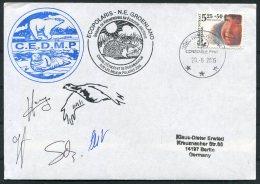 2005 Greenland Constable Pynt Ecopolaris C.E.D.M.P. Polar Bear, Walrus GREA  Arctic Expedition Signed Cover - Greenland