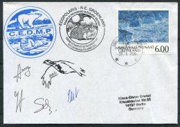 2005 Greenland Constable Pynt Ecopolaris C.E.D.M.P. Polar Bear, Walrus  Arctic Expedition Signed Cover - Greenland
