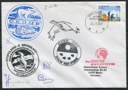 2007 Greenland Tasiilaq Ecopolaris C.E.D.M.P. Polar Bear, Walrus  Arctic Expedition Signed Cover - Greenland