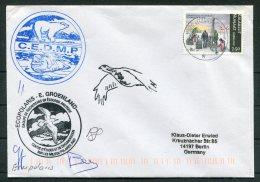 Greenland Ecopolaris C.E.D.M.P. Polar Bear, Walrus  Arctic Expedition Signed Cover - Greenland