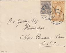 Envelop 2 Mei 1914 Almelo *4*  (typerader Langebalk) Leuke Mengfrankering - Postal History