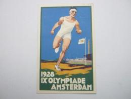 1928 , AMSTERDAM , Werbekarte 1928  Echt Verschickt , Selten