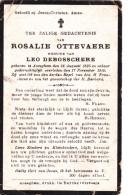 Anseghem, Anzegem, 1910, Rosalie Ottevaere, Debosschere - Devotion Images