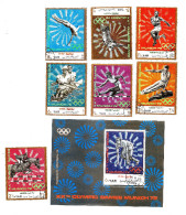 Munich 72 Olympic Games YAR Yemen Arab Republic S/S + Stamp Set 1972 Used (lot - 10 - 777 - 2017) - Ete 1972: Munich