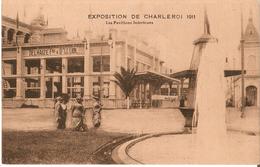 CHARLEROI (6000) : Les Pavillons Intérieurs Et Le Pavillon Delhaize à L'expo De 1911. Belle Animation. CPA - Charleroi