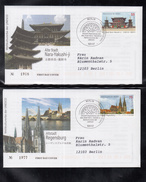 B 5203 ) Japan & Germany 2012 FDC UNESCO: Nara & Regensburg Gemeinschaftsausgabe  // Free Shipping To - [7] Federal Republic
