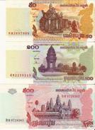 Camboya 2001-2004, Lote 3 Billetes (UNC) - Cambodia