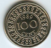 Surinam Suriname 100 Cents 1989 UNC KM 23 - Surinam 1975 - ...