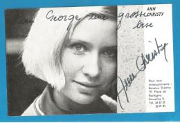 (A291) Signature / Dédicace / Autographe Original De Ann Christy - Chanteuse - Eurovision 1975 - Autographes
