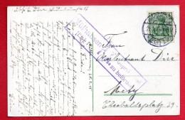 Alsace. Cachet De Mülhausen  Et Cachet De Censure  Du 21.02.1915 Sur CP Mulhouse - Marcophilie (Lettres)