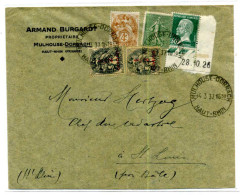 LETTRE DE  MULHOUSE DORNACH POUR SAINT LOUIS / 1937  / ARMAND BURGARD - Alsace-Lorraine