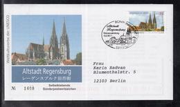 B 5203 ) Bund Germany 2011 FDC  - UNESCO: Altstadt Regensburg Skl // Free Shipping To - [7] Federal Republic