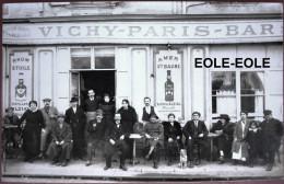83 - Carte Photo - TOULON - VICHY PARIS BAR - Cafe - Devanture - Place Rue De L'intendancee - Toulon