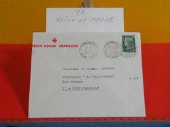 Marcophilie > Flamme > 77 Seine Et Marne > Fontainebleau - Croix Rouge Française - 1970 - Postmark Collection (Covers)