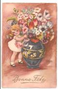 Illustrateur: PETERSEN - Bonne Fêtes: Enfant Avec Des Fleurs - Petersen, Hannes