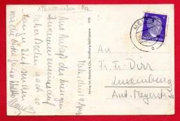Lorraine. Cachet  Metz   Du 20.04.1943 Sur CP Metz - Marcophilie (Lettres)