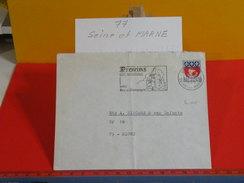 Marcophilie > Lettre > Flamme > 77 Seine Et Marne > Provins - Cité Médiévale En Brie Et Champagne - 1966 - Oblitérations Mécaniques (flammes)