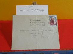 Marcophilie > Lettre > Flamme > 77 Seine Et Marne > Provins - Cité Du Moyen âge, Week End Idéal - 1954 - Oblitérations Mécaniques (flammes)