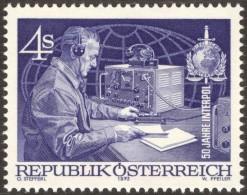 50 Years Interpol - Wireless - Radio - Austria 1973 Michel # 1427 ** MNH - Physics - Non Classés