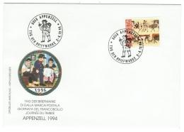 Suisse /Schweiz/Svizzera/Switzerland/1994 / Journée Du Timbre/ Tag Der Briefmarke / Appenzell 1994 - Marcophilie