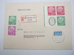 1955 ,  HEUSS   Zusammendrucke Auf Brief Aus  Oberlahnstein - [7] Federal Republic