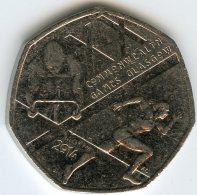 Grande Bretagne Great Britain 50 Pence 2014 XXe Jeux Du Commonwealth - 1971-… : Monnaies Décimales