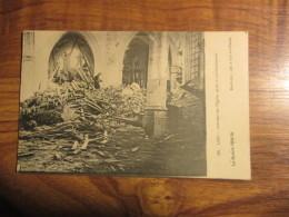 CP Loo - Intérieur De L'église Après Le Bombardement - Lo-Reninge