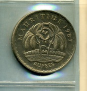 1987 5 RUPEES - Maurice