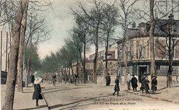 VILLENEUVE SAINT GEORGES - La Rue De Paris Et La Poste (92856) - Villeneuve Saint Georges