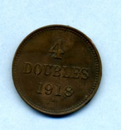 1918 4 DOUBLES H - Guernsey