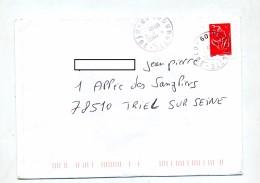Lettre Cachet Thourotte - Marcophilie (Lettres)