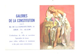 Calendrier De Poche 1964 - Pin-up - Publicité : Galeries De La Constitution à Liège (lau) - Petit Format : 1961-70