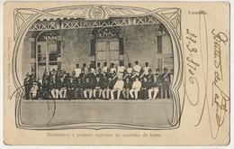 Loanda Bombeiros Do Caminho De Ferro Firemen From Train Station Pompiers Du Chemin De Fer Edit Novecentos Art Nouveau - Angola