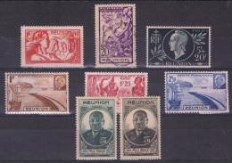 REU 19 - REUNION Lot De 8 Val. Neufs* Ou Obl. - Réunion (1852-1975)