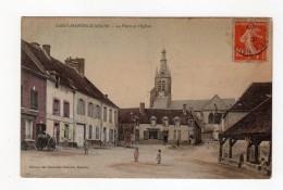 Saint Martin D'Ablois - La Place Et L'eglise - 51 - - France