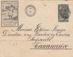 Madagascar Entier Postal PTT VATOMANDRY 1930 - Madagascar (1889-1960)
