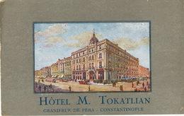 Hotel M. Tokatlian Grande Rue De Pera Constantinople Art Card Dessin Propriétaire Armenien - Armenia