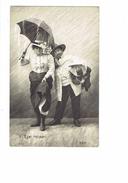 Cpa - HUMOUR - Quel Retour - O.E.P. - Femme élégante Homme Chapeau Enfant Parapluie - Pluie - Women