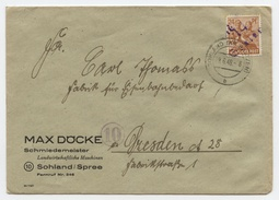 T.D SOHLAND/SPREE 29.6.1948 Entête: Max Döcke Schmiedemeister - Zone Soviétique
