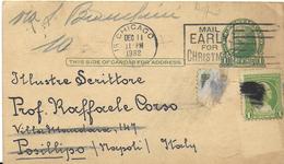 INTERO POSTALE USA 1932 DA CHICAGO